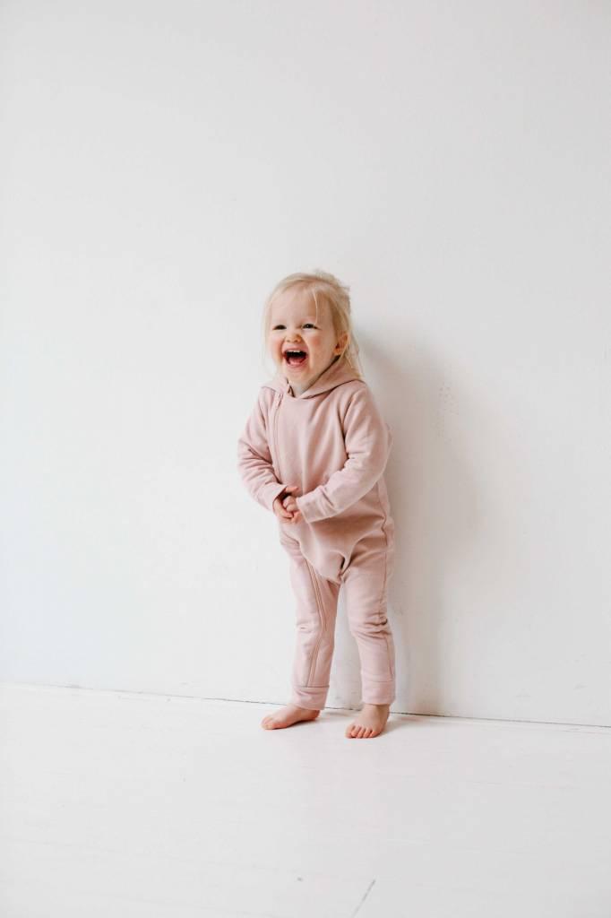 Hoody Zip Jumpsuit - Powder Pink (NEW)
