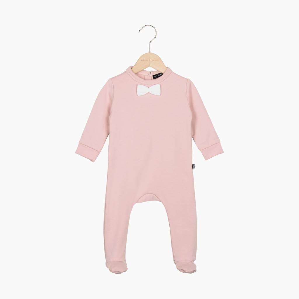 Bow Tie babysuit - Powder Pink (NEW)