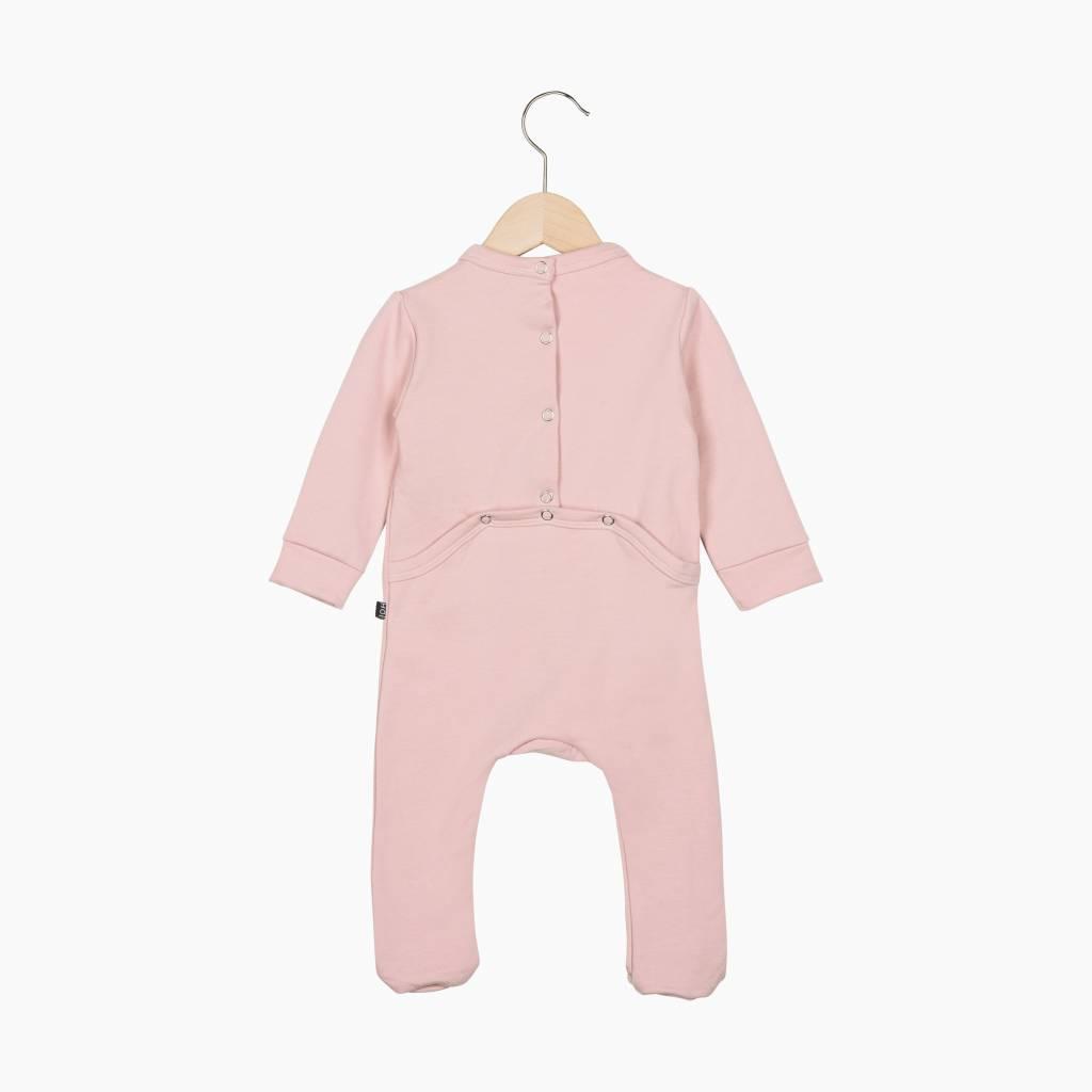 Bow Tie babysuit - Powder Pink
