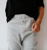 Boys Collar Tee (long sleeve) - Black (NEW)