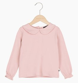 Girls Collar Tee (long sleeve) - Powder Pink