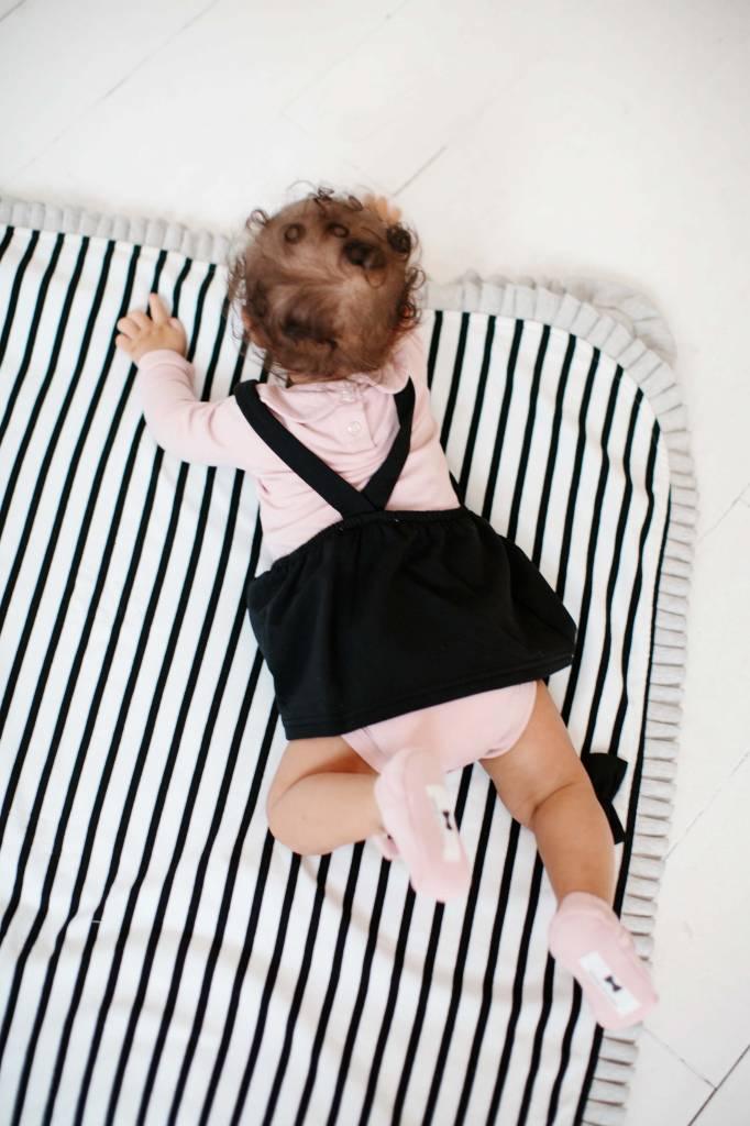 Girls Collar Bodysuit (long sleeve) - Powder Pink (NEW)