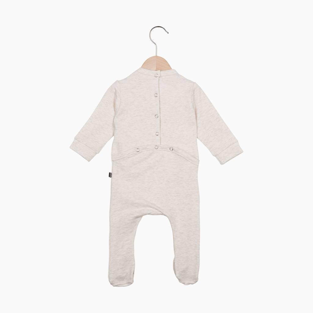 Bow Tie babysuit - Sand