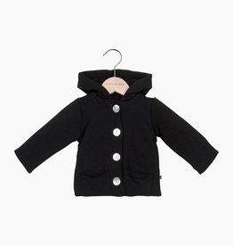 Bow Tie Hooded Jacket - Black