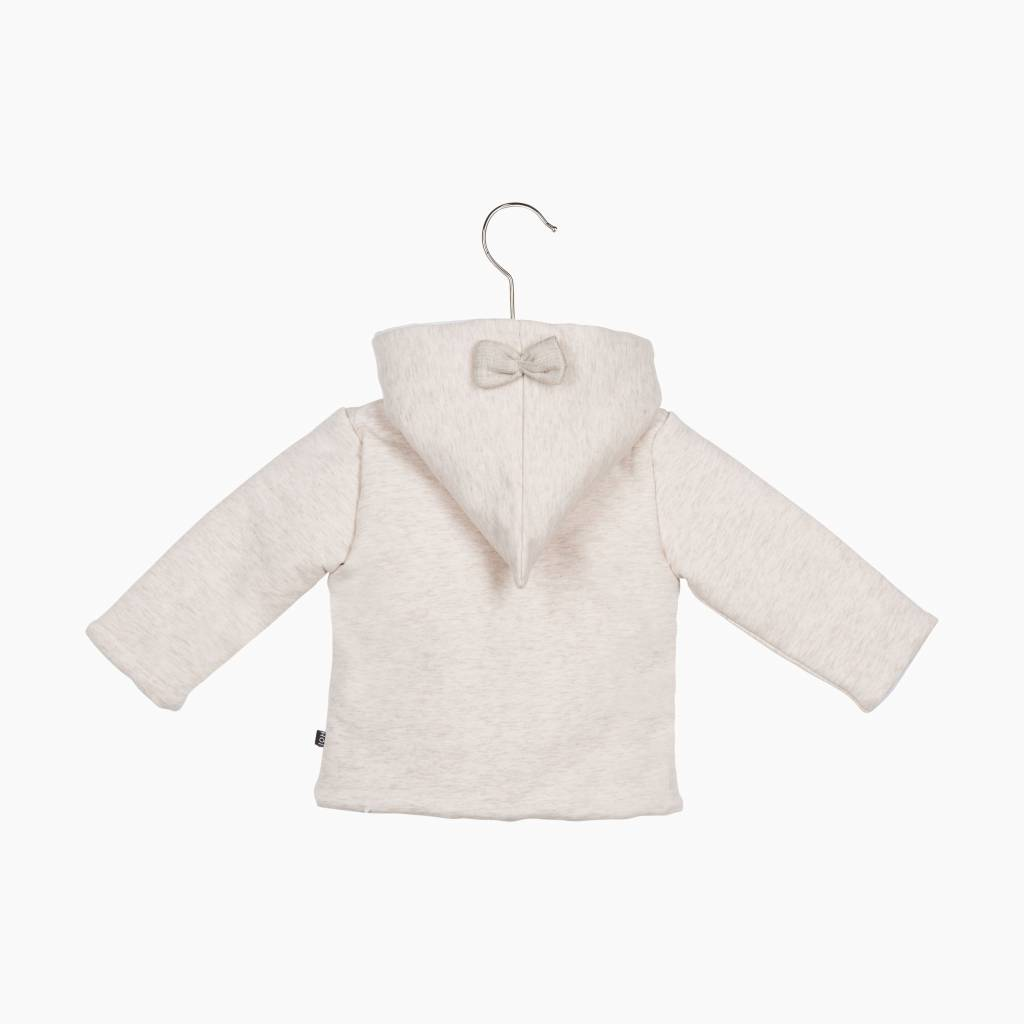 Bow Tie Hooded Jacket - Sand