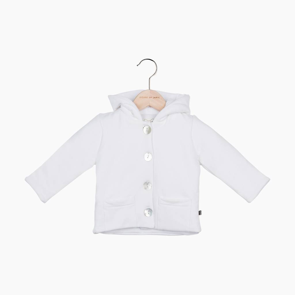 Bow Tie Hooded Jacket - Snow White