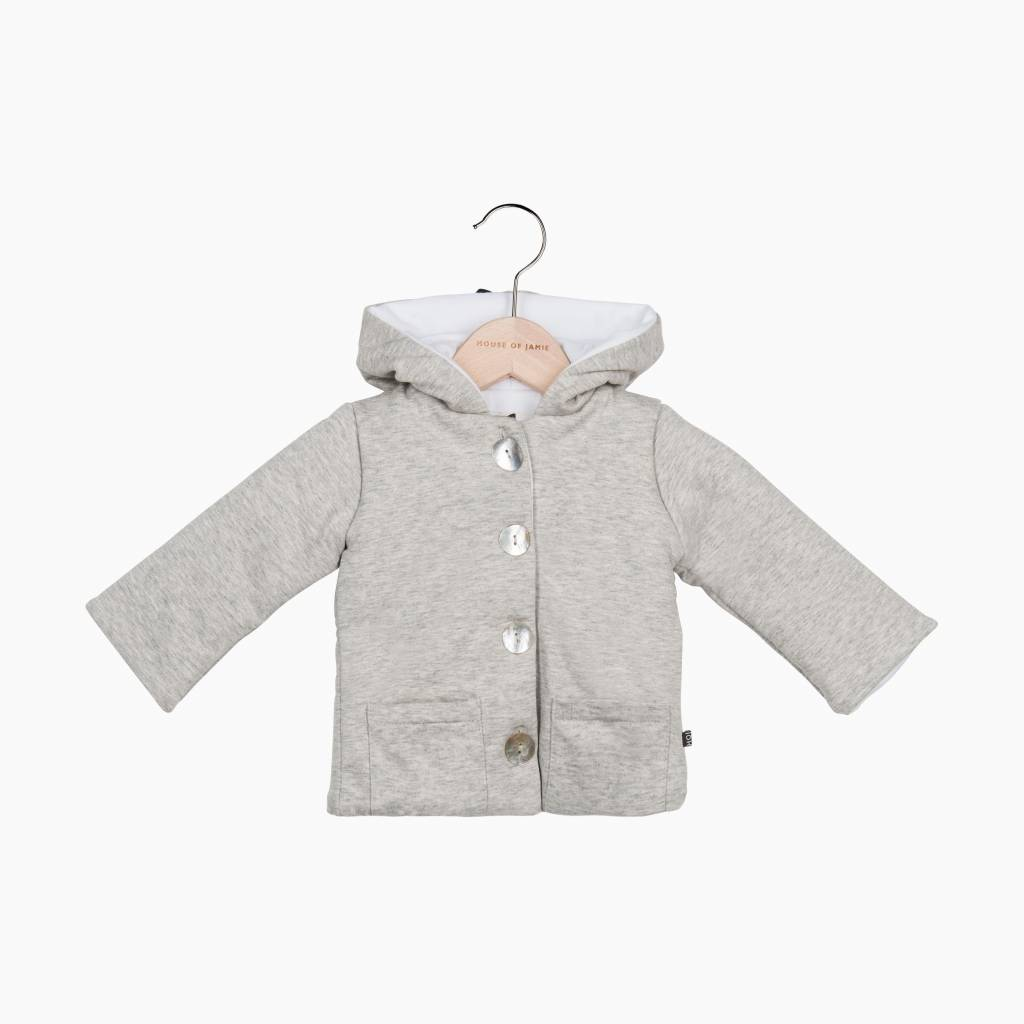 Bow Tie Hooded Jacket - Stone