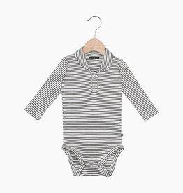 Boys Collar Bodysuit (long sleeve) - Little Stripes