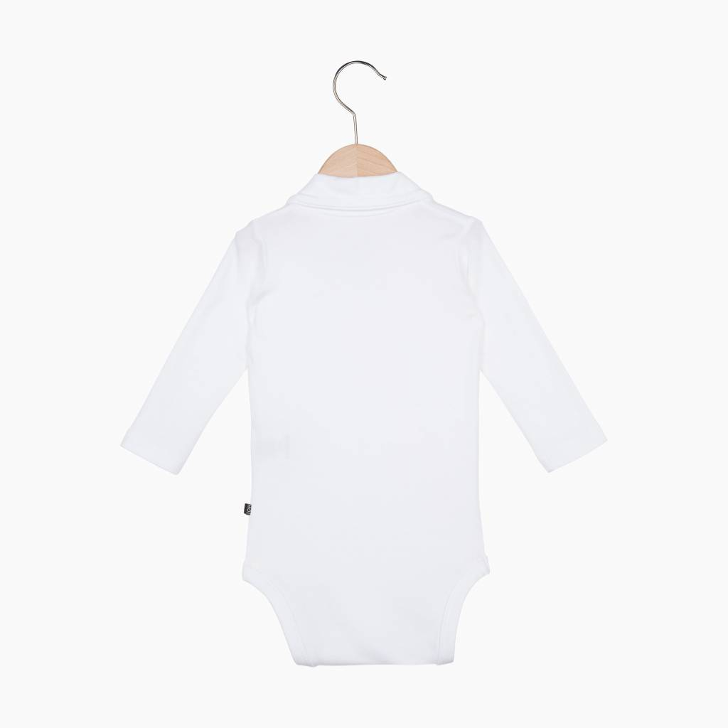 Boys Collar Bodysuit (Long Sleeve) - Snow White