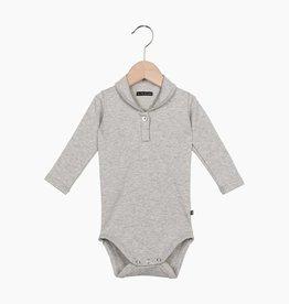 Boys Collar Bodysuit (long sleeve) - Stone