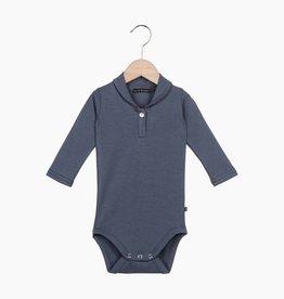 Boys Collar Bodysuit (long sleeve) - Vintage Grey
