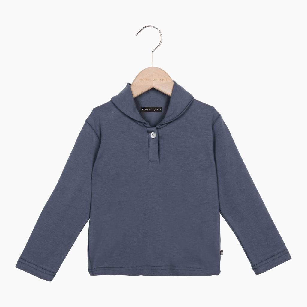Boys Collar Tee (long sleeve) - Vintage Grey