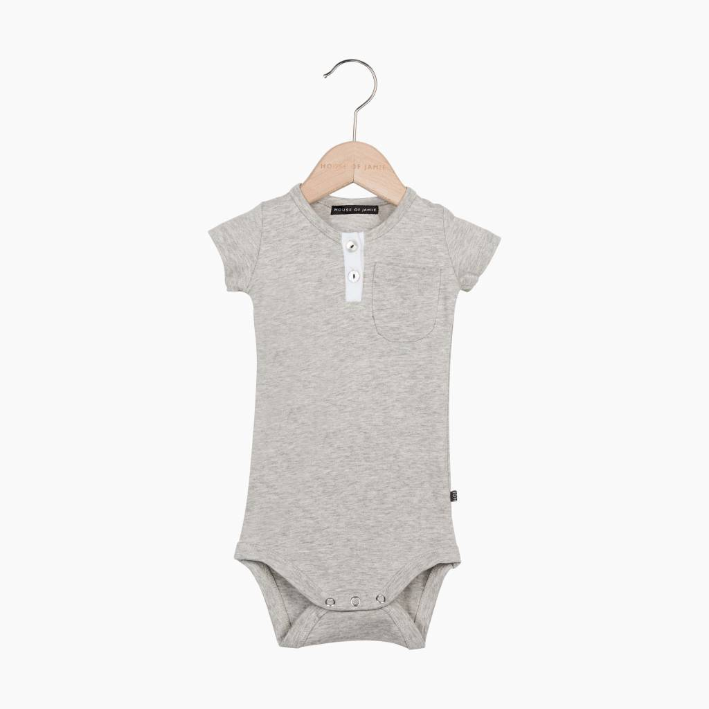 Button Bodysuit - Stone (NEW)
