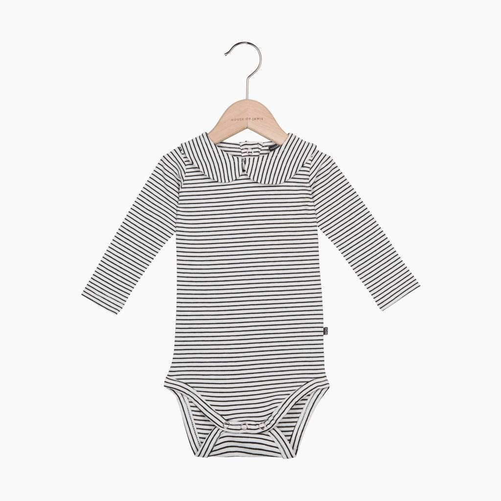 Girls Collar Bodysuit (long sleeve) - Little Stripes