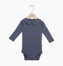 Girls Collar Bodysuit (long sleeve) - Vintage Grey (NEW)