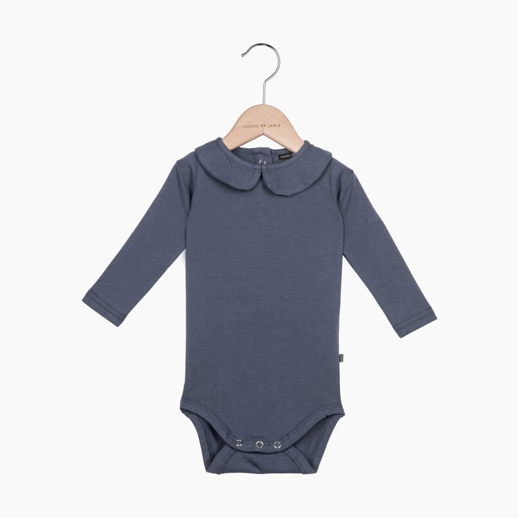 Girls Collar Bodysuit (long sleeve) - Vintage Grey (NEW)