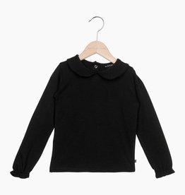 Girls Collar Tee (long sleeve) - Black