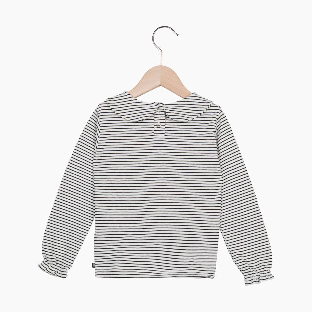 Girls Collar Tee (long sleeve) - Little Stripes