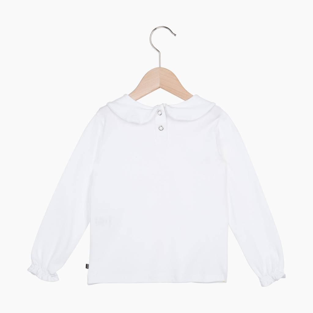Girls Collar Tee (long sleeve) - Snow White