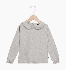 Girls Collar Tee (long sleeve) - Stone