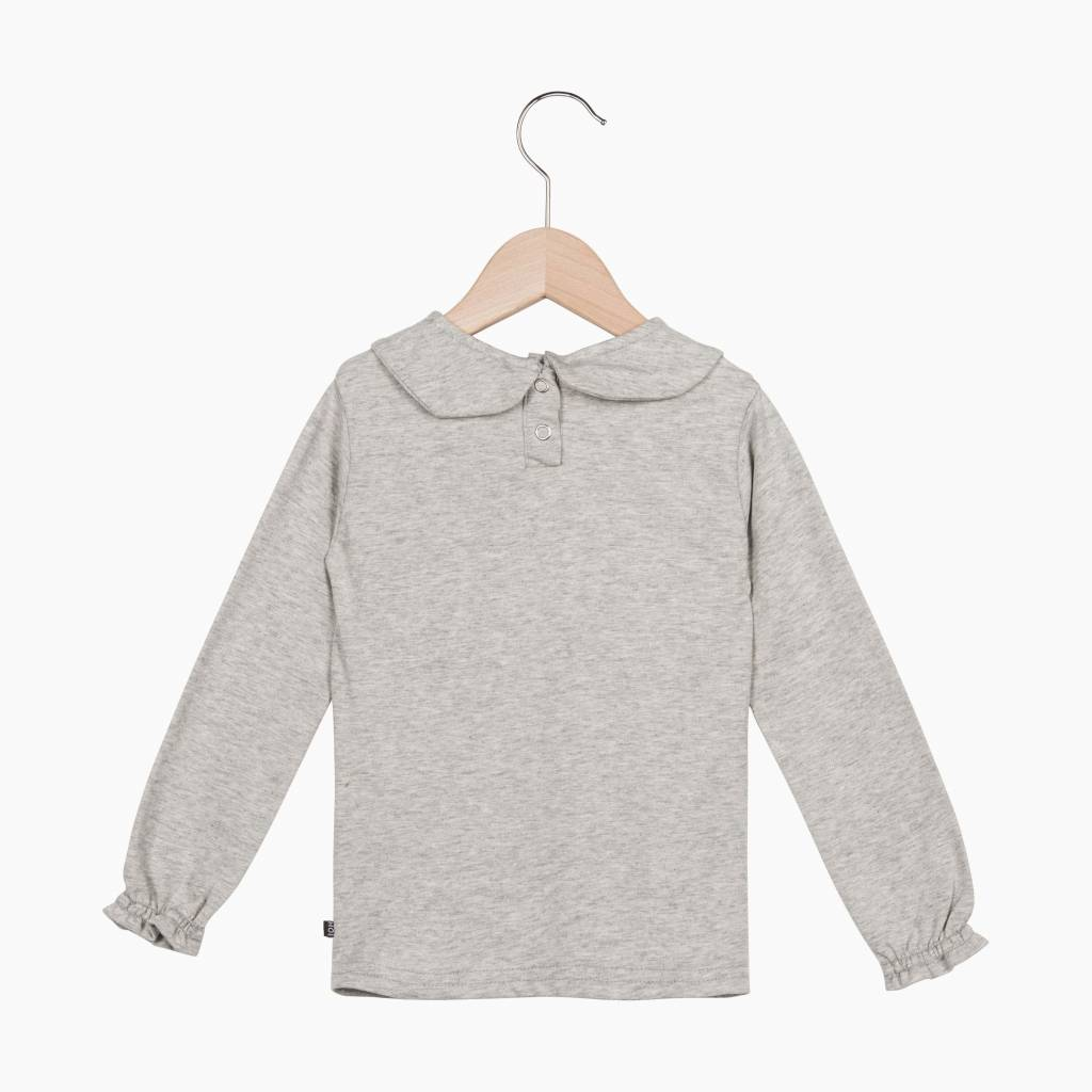 Girls Collar Tee (long sleeve) - Stone