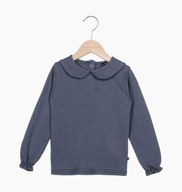 Girls Collar Tee (long sleeve) - Vintage Grey