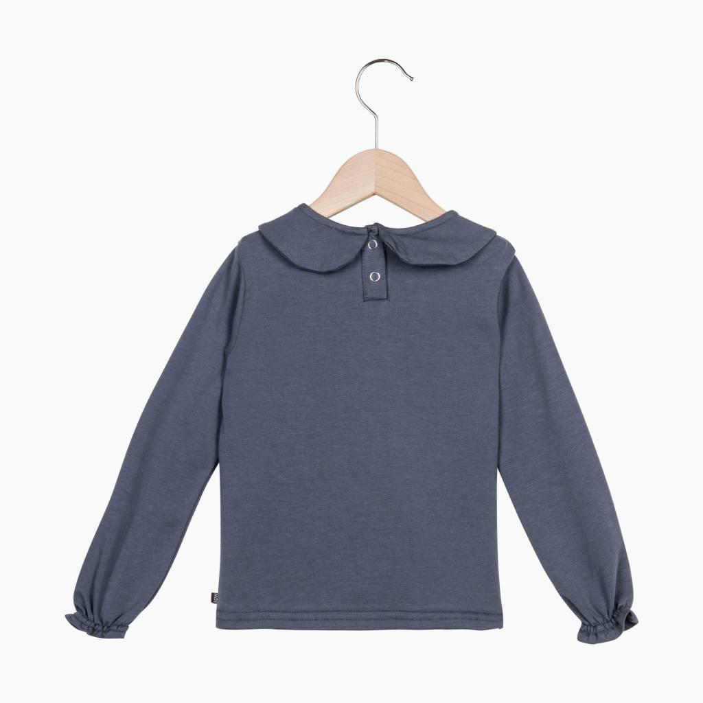 Girls Collar Tee (long sleeve) - Vintage Grey
