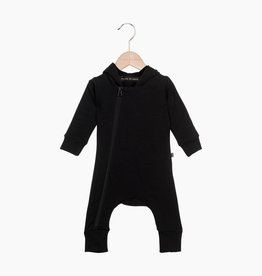 Hoody Zip Jumpsuit - Black