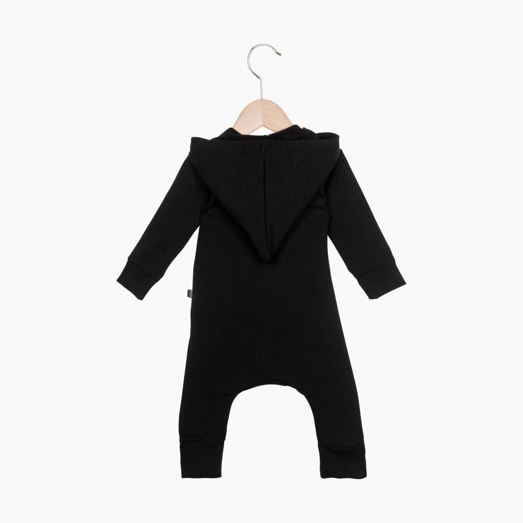 Hoody Zip Jumpsuit - Black
