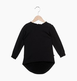 Long Tunic Sweat - Black