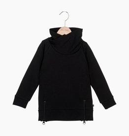 Long Zip Sweater - Black