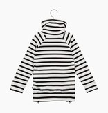 Long Zip Sweater - Breton