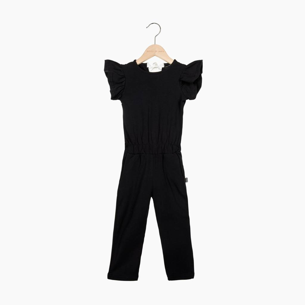 Ruffled Jumpsuit - Black