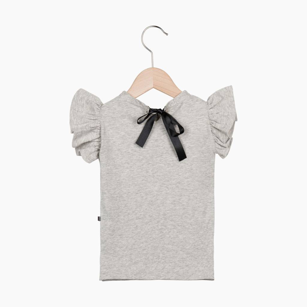 Ruffled Tee - Stone - House of Jamie Ruffled Sweater House Of Jamie