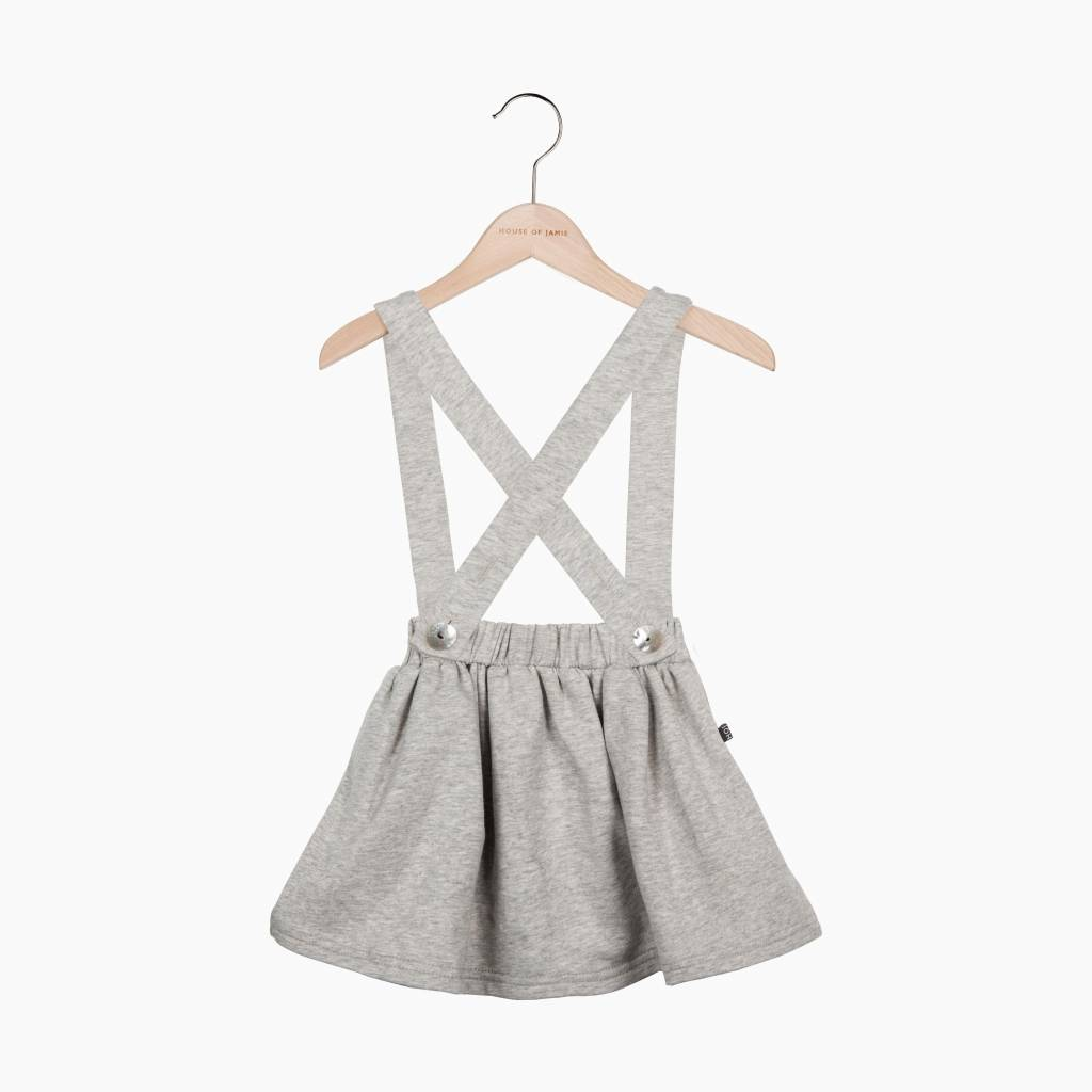 Suspender Skirt - Stone