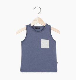 Tanktop - Vintage Grey (stone pocket)