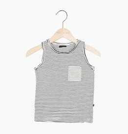 Tanktop - Little Stripes (stone pocket)