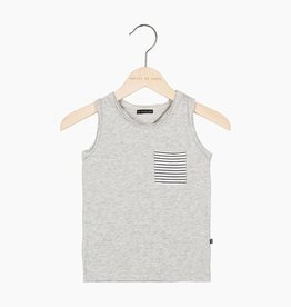 Tanktop - Stone (striped pocket)