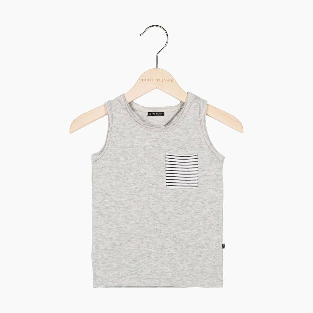 Tanktop - Stone (striped pocket) (NEW)