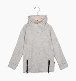 Long Zip Sweater - Stone