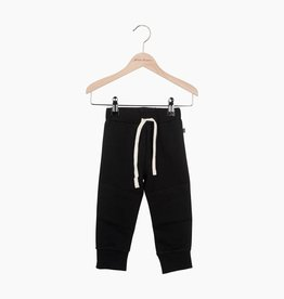 Knee Patch Jogger - Black