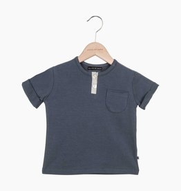 Button Tee - Vintage Grey