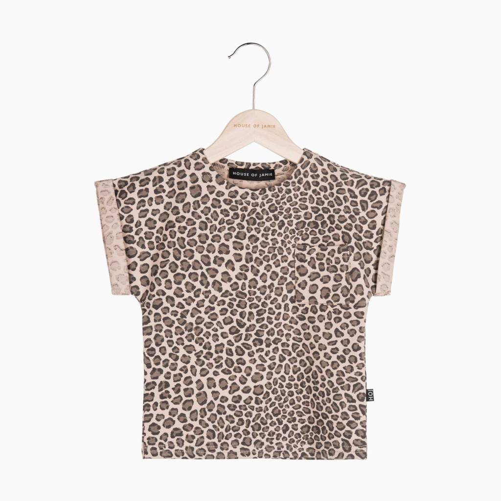 Batwing Tee - Caramel Leopard (NEW)