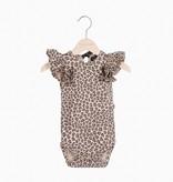 Ruffled Bodysuit - Caramel Leopard (NEW)