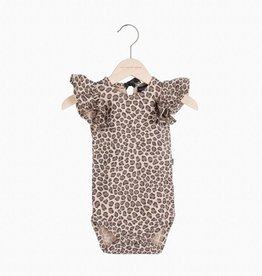 Ruffled Bodysuit - Caramel Leopard (NEW)