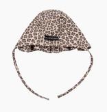 Ruffled Bonnet - Caramel Leopard (NEW)