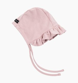 Ruffled Bonnet - Powder Pink (NEW)