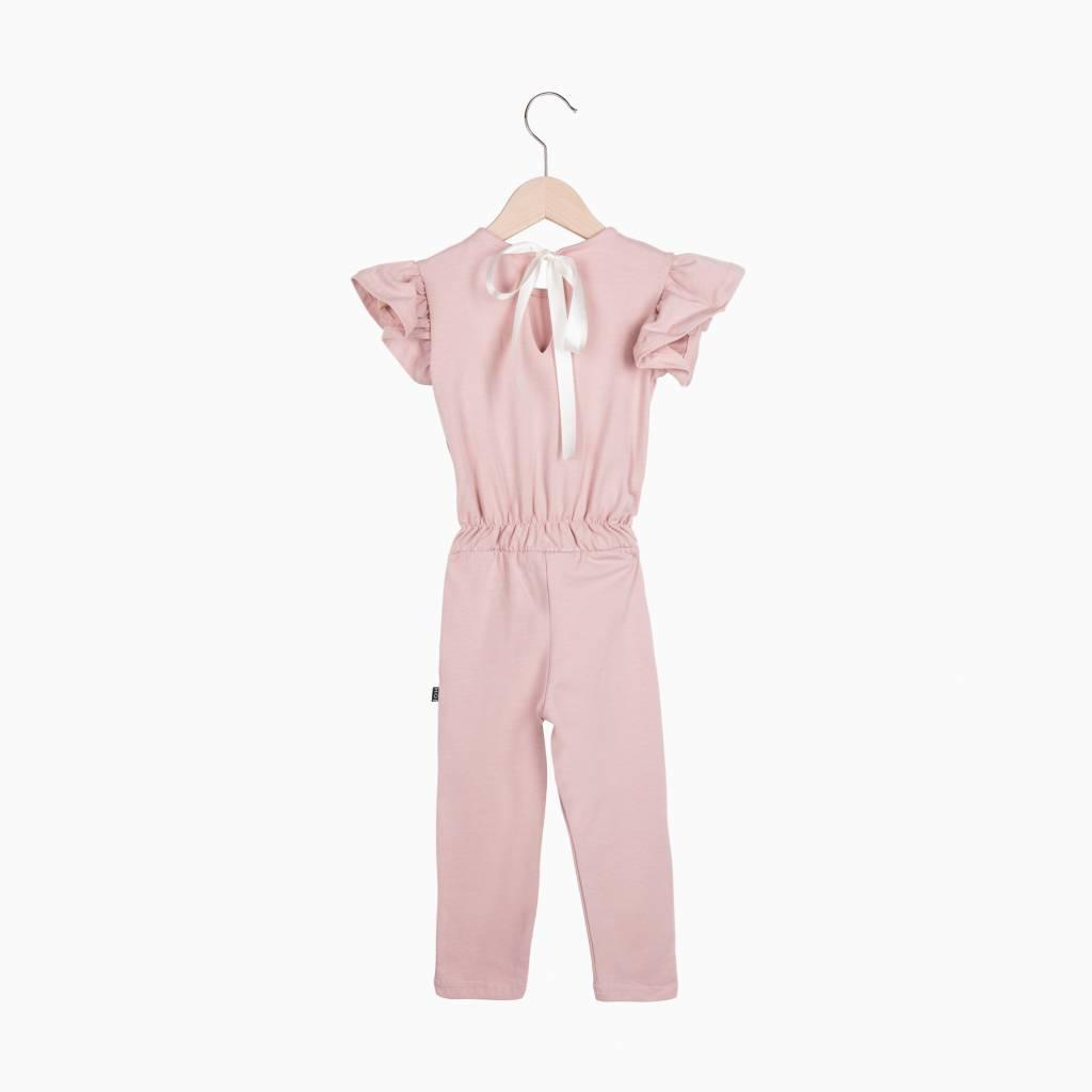 Ruffled Jumpsuit - Powder Pink (NEW)
