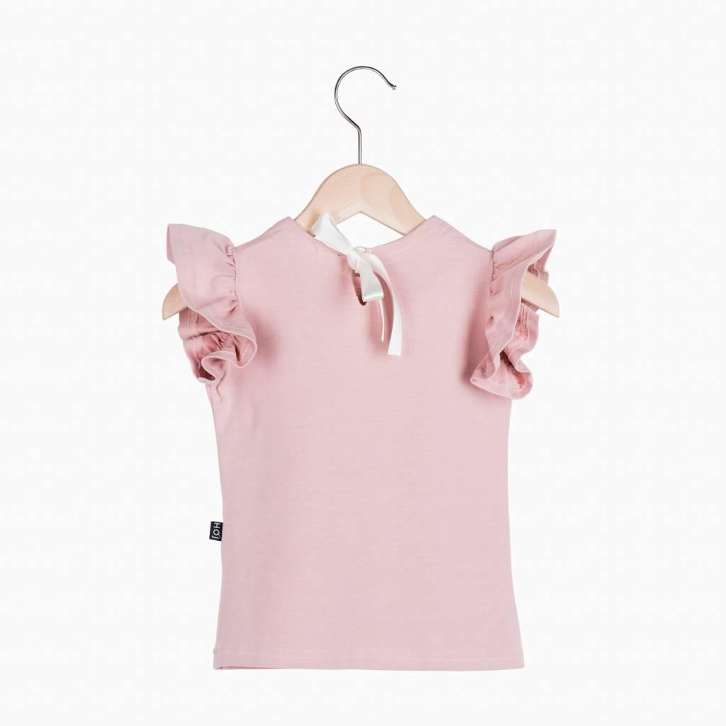 Ruffled Tee - Powder Pink (NEW)