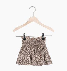 Smocked Skater Skirt - Caramel Leopard (NEW)